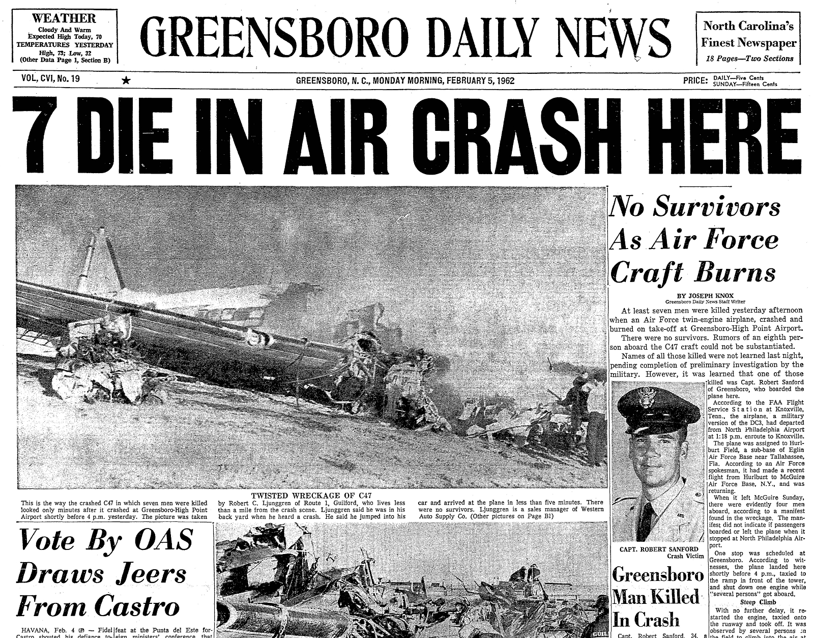 Legeros History - Greensboro-High Point Airport Fire