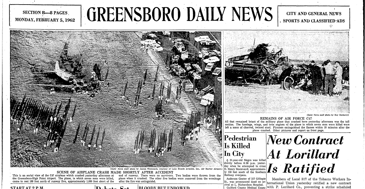 Legeros History - Greensboro-High Point Airport Fire Department