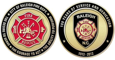 Raleigh Fire Museum | Challenge Coins For Sale