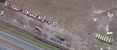 Field of Fire Trucks on I-95 in Georgia - Legeros Fire Blog