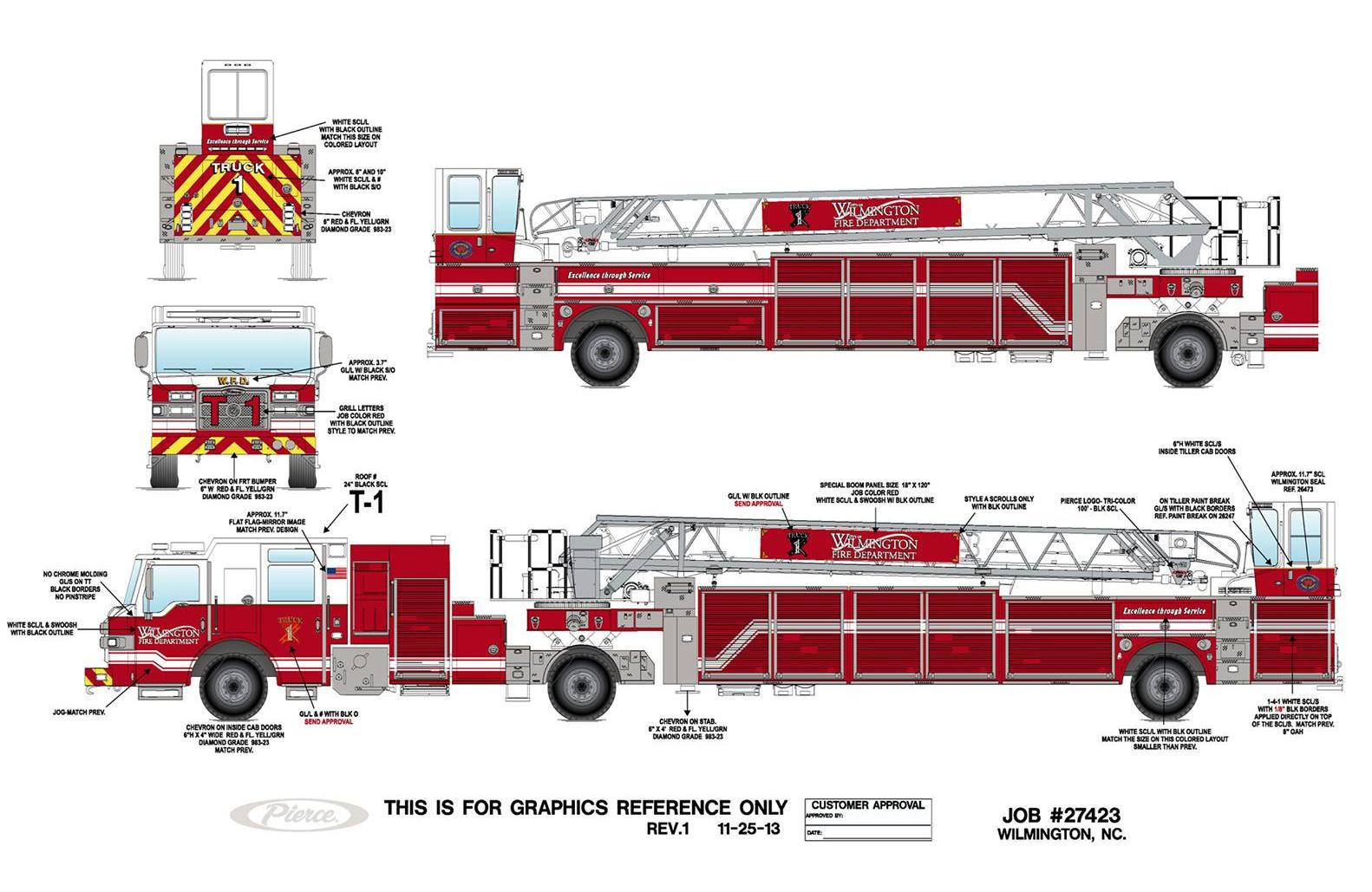 Fire Truck Drawings