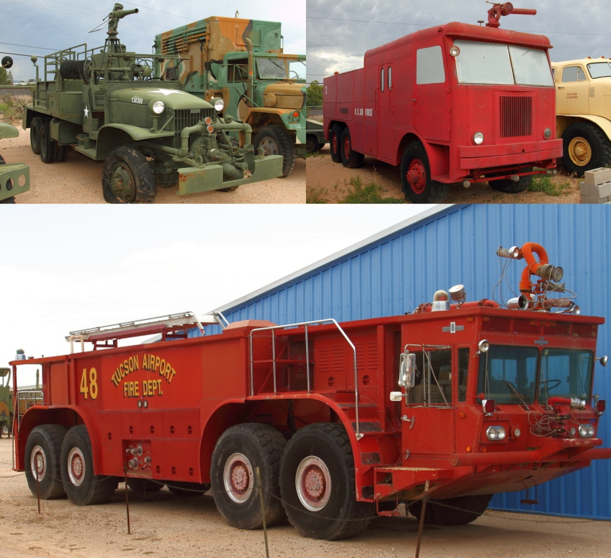 legeros fire blog bottom is an oshkosh m 12 crash truck that originally served the tucson airport thanks to mark redman and ted heinbuch via the fire trucks at war facebook