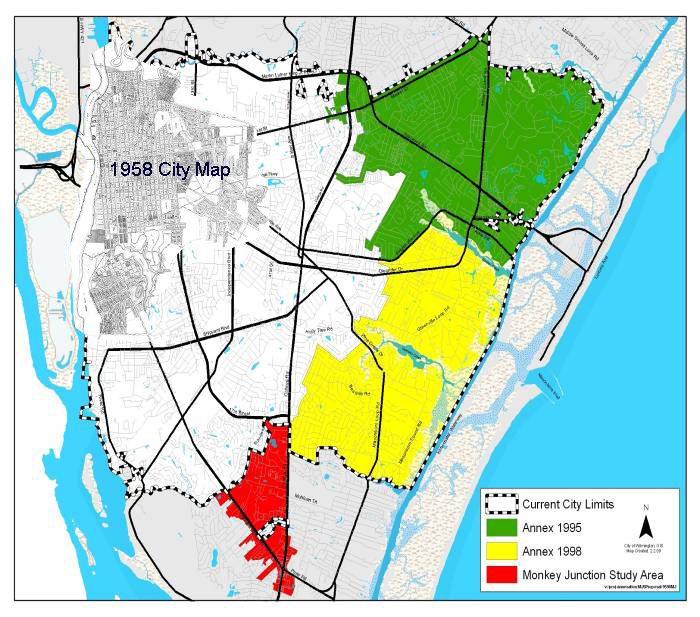 Monkey Junction Nc Map.Wilmington Annexation History Legeros Fire Blog Archives 2006 2015