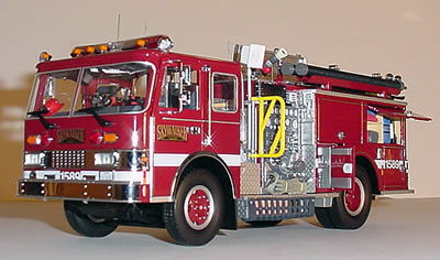 Die Cast Fire And Emergency Vehicles Modern Pumpers